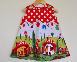 gnomeville pinafore funky kitsch