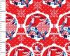 birds red fabric