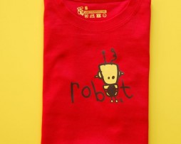 red robot t shirt