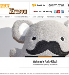 funky kitsch new website