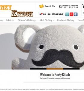 funky kitsch new website