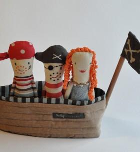 maileg ship crew captain and mermaid