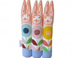 Scandinavian Flower Fabric Rabbit