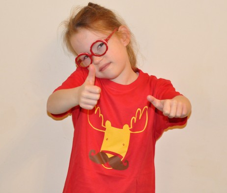 moosetache tee shirt red child