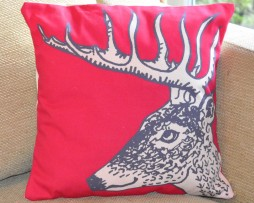 reindeer stag cushion
