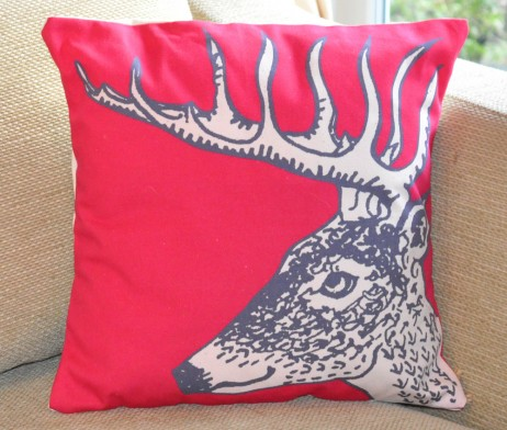 reindeer stag cushion