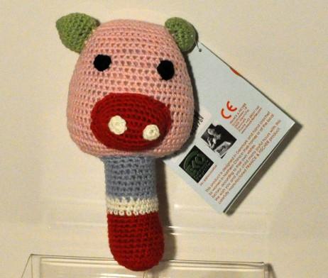 franck fischer rosalil pig rattle
