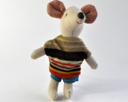 little brother mouse in stripey top