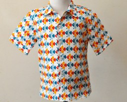 Fish short sleeve shirt