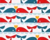 whale love fabric